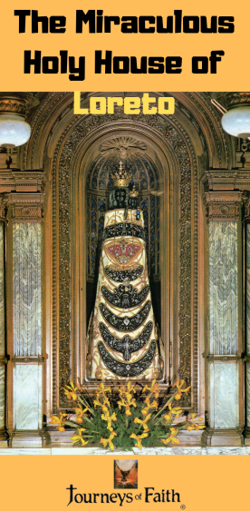 Our Lady of Loreto inside the Holy House of Loreto